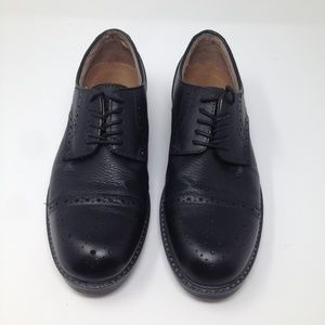 G.H. Bass Men Black Leather 8.5 D Oxford Shoe